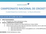 Imágen de la noticia: NACIONAL DE CRICKET 2019